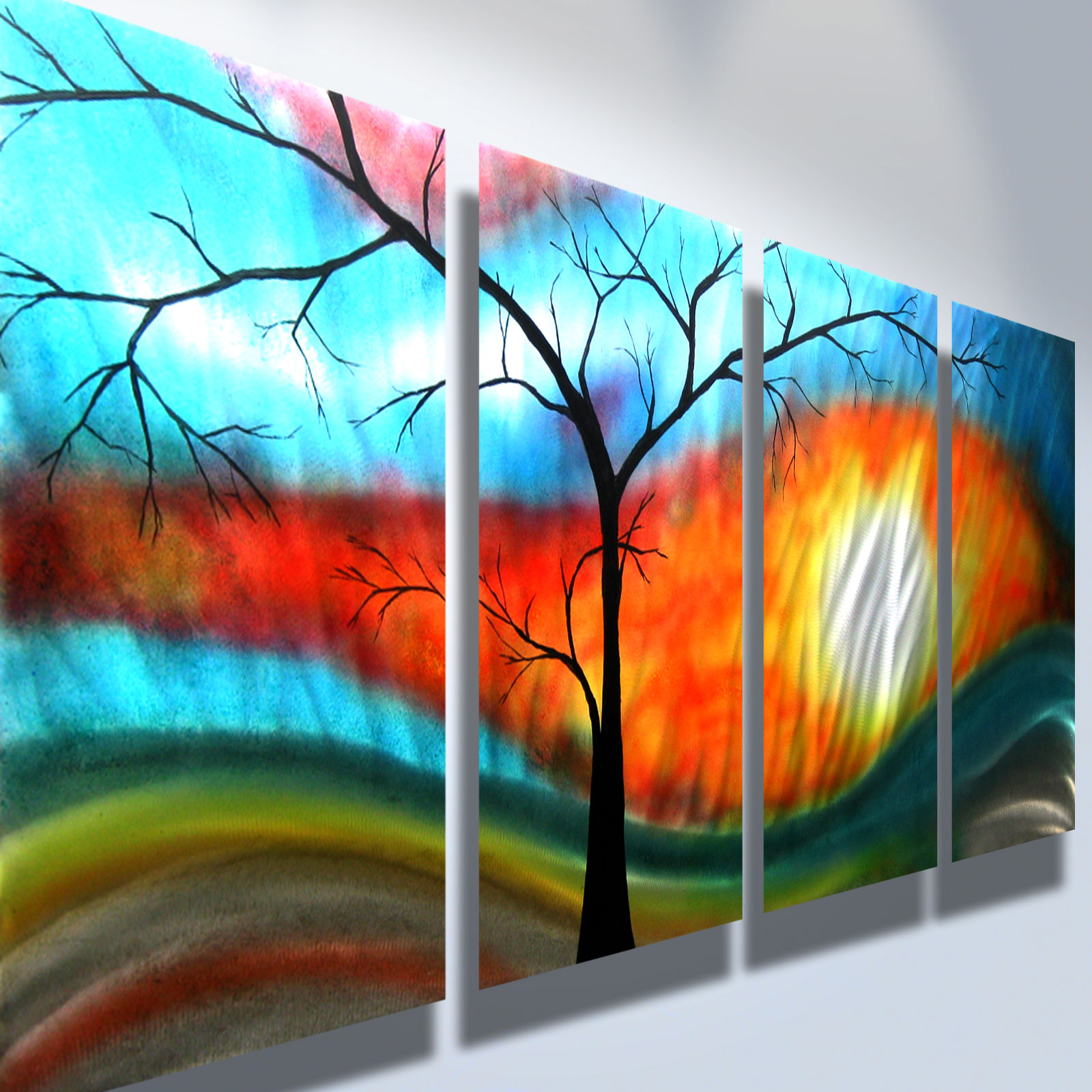 Shadow Tree- Metal Wall Art Abstract Contemporary Modern ...