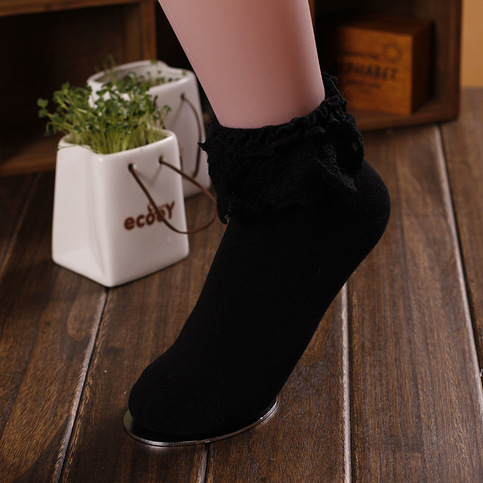 Black Lace Ankle Socks