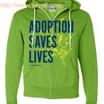 """Adoption Saves Lives"" Zip-up Hoodie"