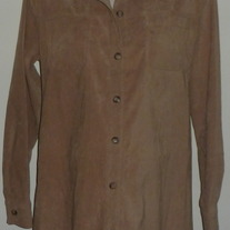 Tan Suede Jacket/Top-Motherhood Size Medium