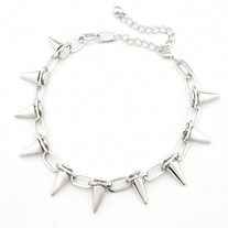 Spikes Necklace -  Silver