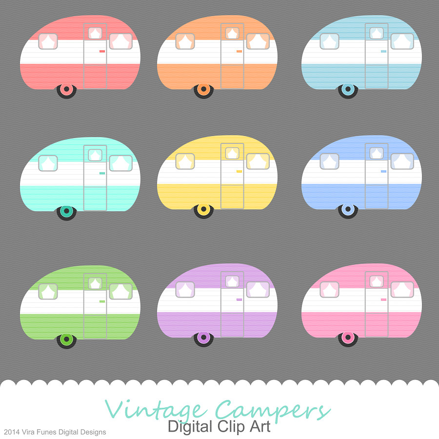 Back  gt  Gallery For  gt  Clip Art Vintage Camping TrailorsVintage Camper Clipart