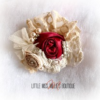 Satin Rose Brooch