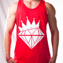 Diamond King Tank (Red/White)