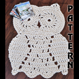 Rope Owl Rug Pattern - Crochet Pattern - Owl Decor