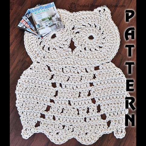 Rope Owl Rug Pattern - Crochet Pattern - Owl Decor ...