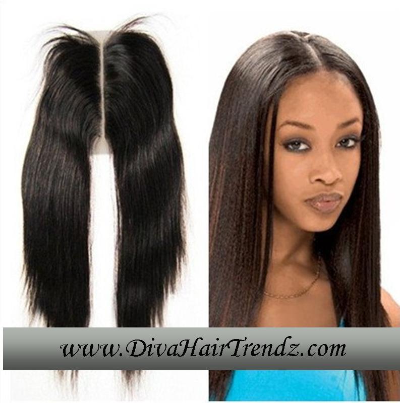Brazilian Hair Middle Part Closure Triple Weft Hair