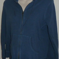 Blue Hooded Zip Up Jacket-Motherhood Maternity Size Small
