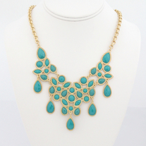 Modern Tear Drop Statement Necklace (More Colors Available)