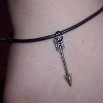 Hunger Games inspired leather bracelet
