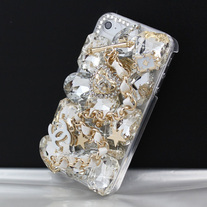 Gold Designer CC Case (iPhone 4 4s)
