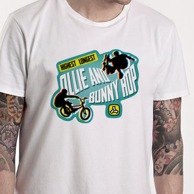 Oille & bunny hop tee 2012, white