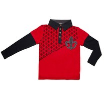 Fore! Axel & Hudson Fleur Di Lys Long-Sleeve Crimson Polo