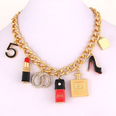 Bougie girl charm necklace