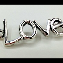 LOVE. Antique silver