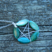 Pretty wire wrap pentagram