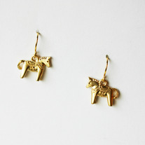 Mini Dala Horse Dangle - Silver or Gold