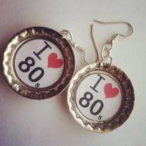 I love 80's Earrings