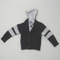 3Pommes Hooded Knit Cardigan