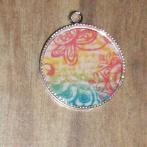 Words In Color Bezel Pendant