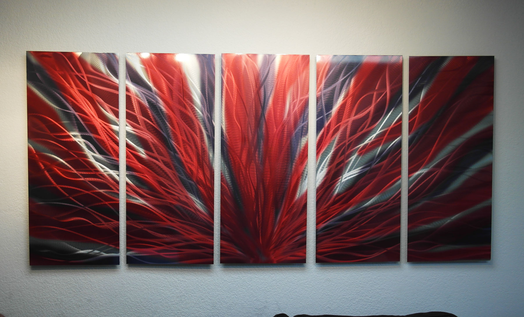 Red And Black Metal Wall Art Large Radiance Red And Black Metal Wall Art Abstract Sculpture