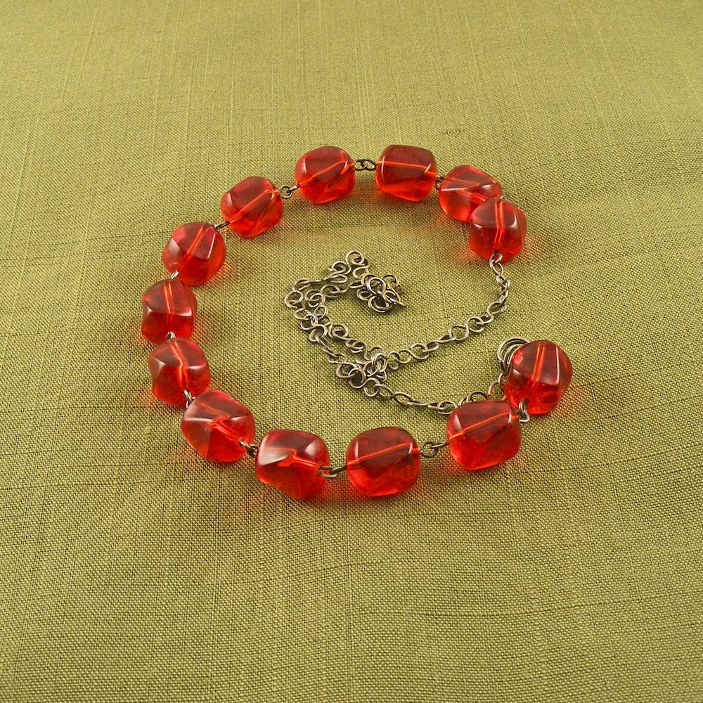 Impatiens Designs Oxidized Cherries Necklace High