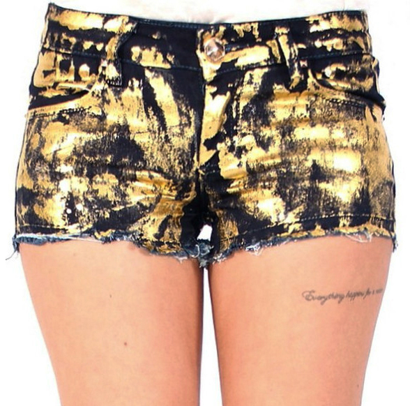 Dip Dyed Shorts: Women, Ladies, Girl, Teen - Club - Festival ...