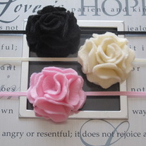Itty Bitty Felt Flower headband