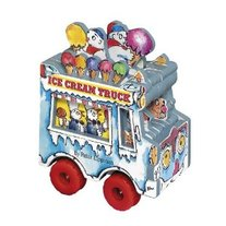 Mini Wheels Books By Peter Lippman- Ice Cream Truck, Fire Truck, School Bus