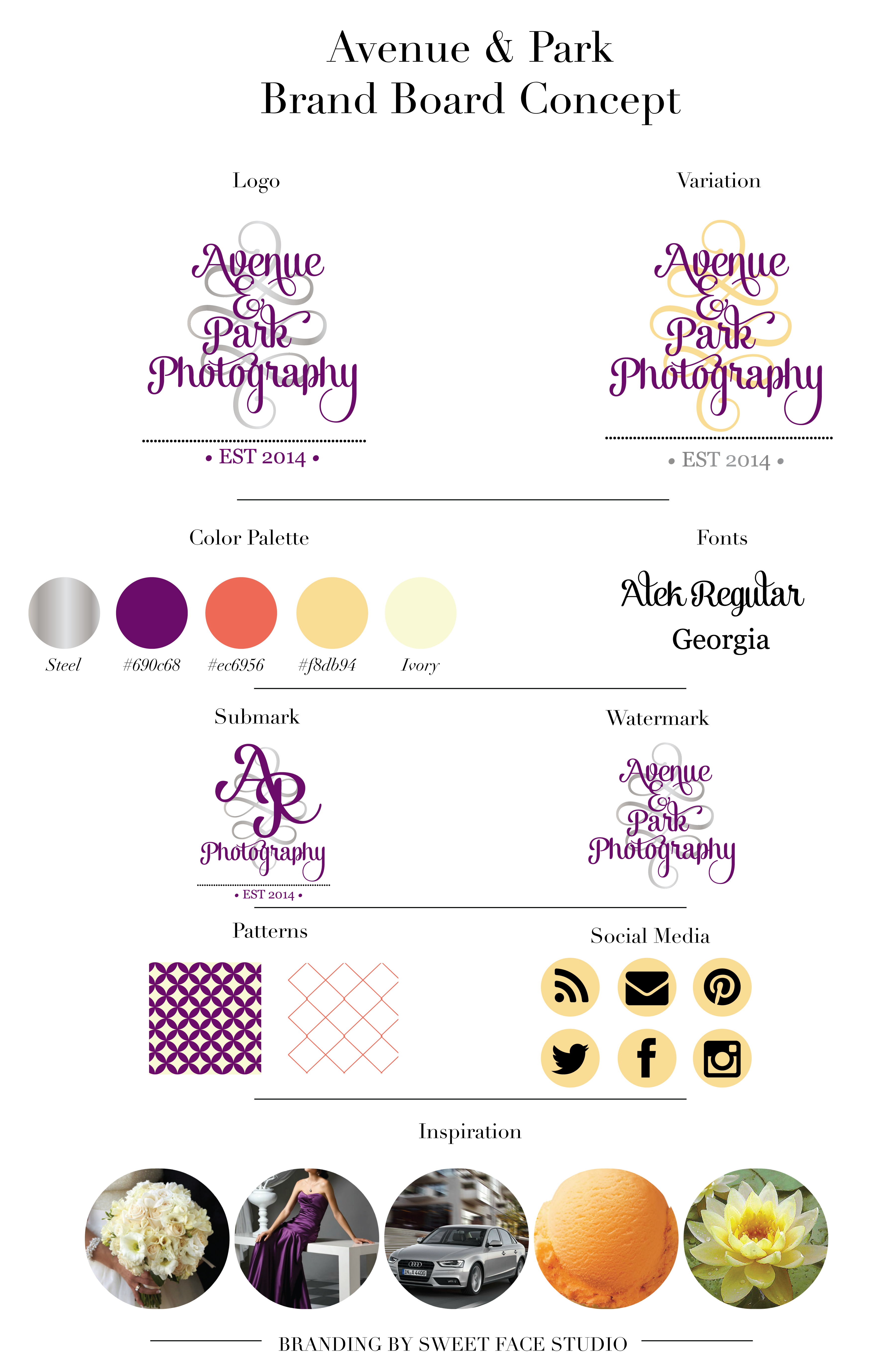 premade custom business card stationery photography website blog brand identity logo letterhead art watermark kit of
