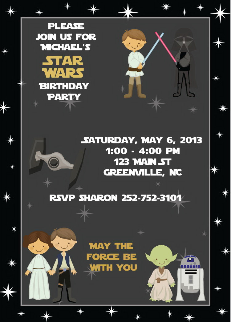 Star Wars Invitation - Kids Birthday Party Invitation Digital for ...
