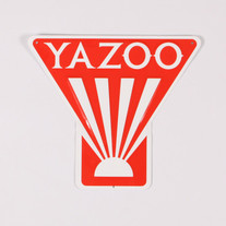 Yazoo Logo Tin Tacker Sign