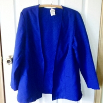 Queen's-Way to Fashion Open Blazer Sz 18
