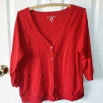Riders by Lee Red Cardigan XL