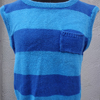 Vintage 1980s striped sleeveless sweater