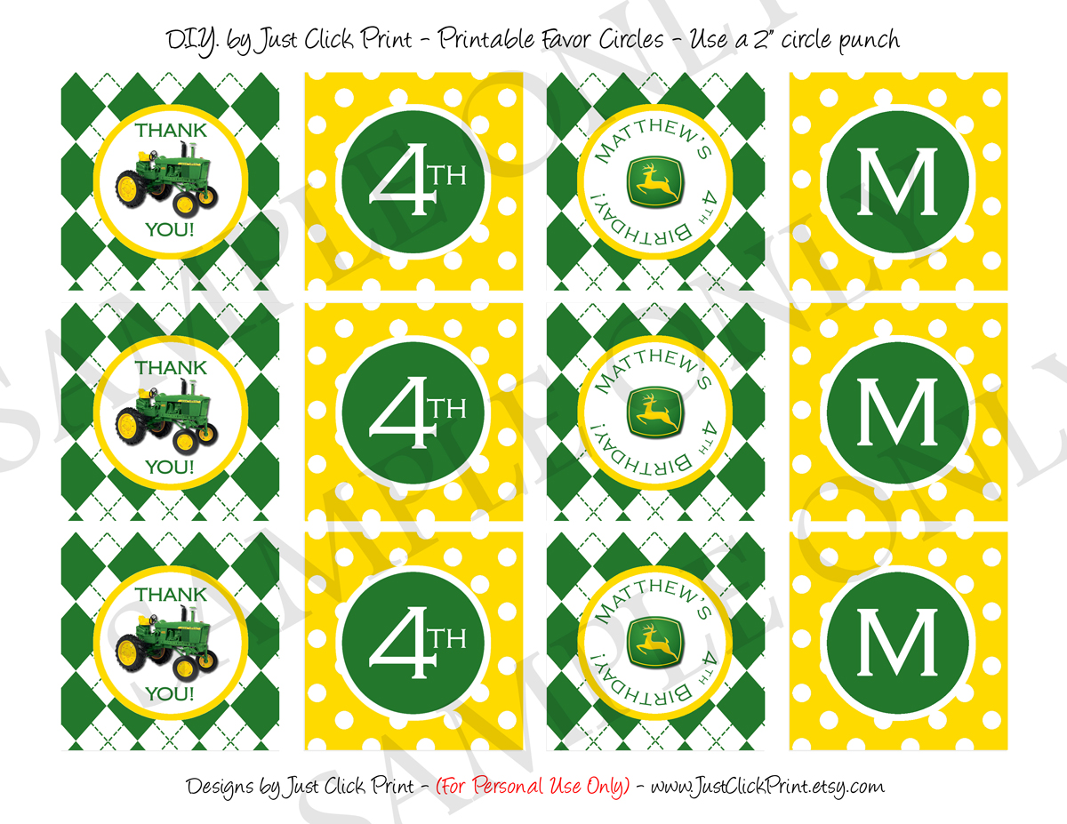 John Deere Inspired Birthday Photo Thank You Card · Just Click Print ...