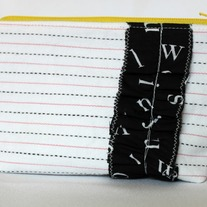 Zipper Pouch {School Time Type~Yellow}