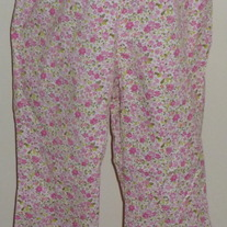 Pink Flower Capris-Tomorrows Mother Size Medium