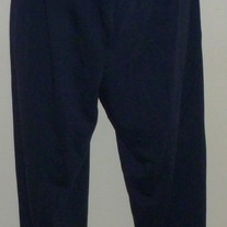 Navy Blue Cotton Pants-Dividends Maternity Size Small
