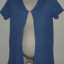 Blue Short Sleeve Sweater Cardigan-Take Nine Maternity Size XL