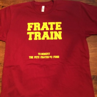 Maroon frate train tee (unisex)