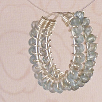 Sterling Apatite Hoop Earrings