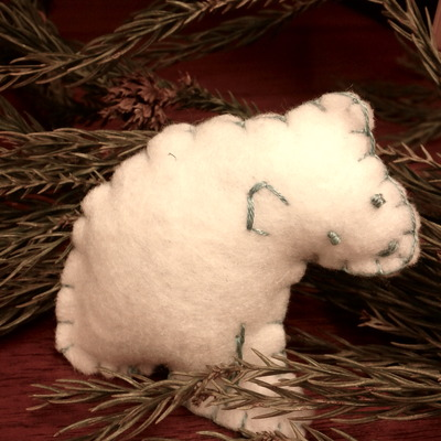 Polar bear catnip toy