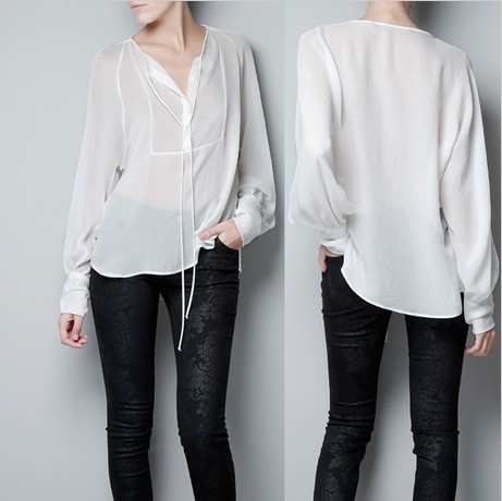 White blouse Photo 2