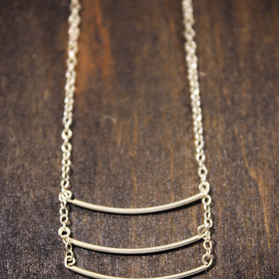 Bar iii - silver necklace