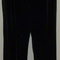 "Black Velvety ""Comfy"" Pants-Tomorrows Mother Size Medium CLLO1"