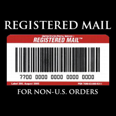 Registered mail upgrade - for non-u.s. orders