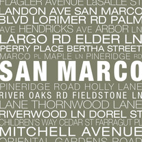San Marco Neighborhood Print