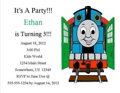 Thomas The Train Birthday Invitation 3