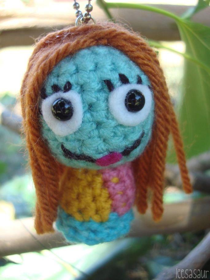 Amigurumi Kangaroo Crochet Pattern : LEESASAUR Jack and Sally Skellington Amigurumi Ornaments ...